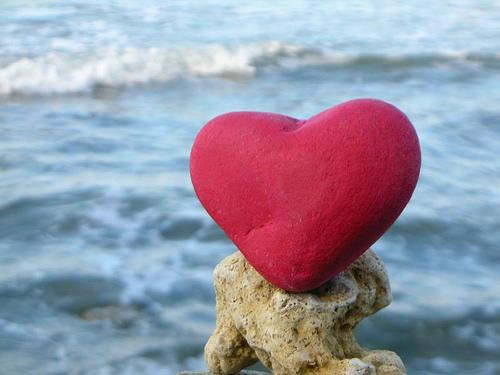szív a sziklán