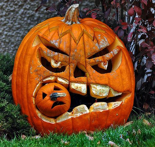tök halloweenre