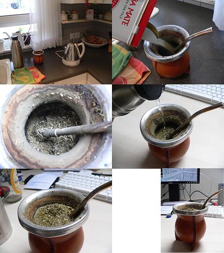 Mate tea készítése