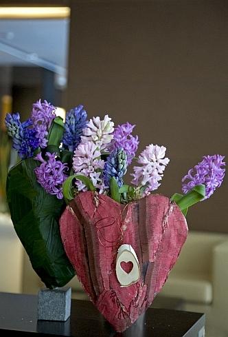 jácintszív dekoráció