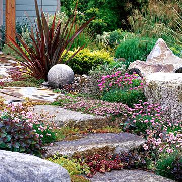 kert tagolása bokrokkal