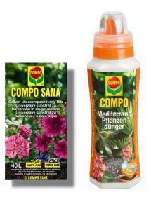 Compo sana szobanövényföld és balkon virágföld