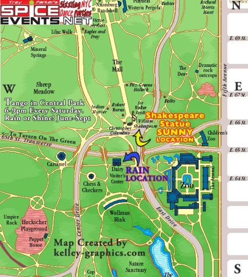 central Park térkép