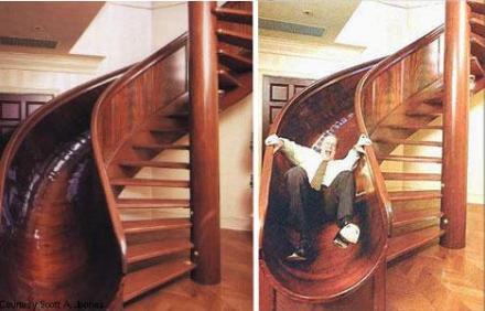 csúszda lépcső