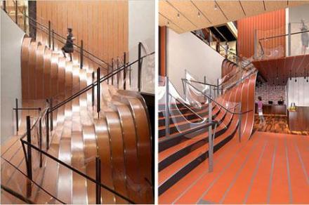 hullámzó lépcső