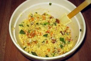 Csirkés rizssaláta