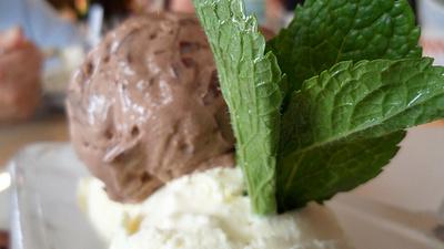 Mentolos-csokoládés-fagylalt