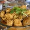 Currys csirke édes burgonyával és karfiollal