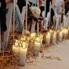 Csavart fűzfaágak esküvői díszekhez