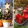 Ötletes fenyőtoboz-karácsonyfa és egyéb tobozdíszek