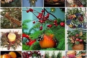 Természetes karácsonyi dekorációk házilag