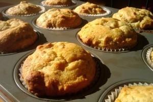 Így készül a banános-diós muffin
