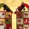 Adventi naptár házilag - házikó tele ajándékokkal