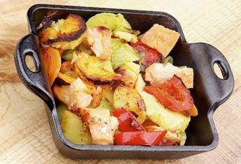 Ponttyal hirtelen sült zöldségek