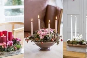 Adventi koszorú élő virágból