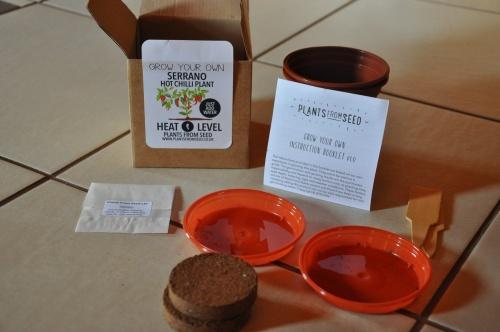 Serrano chili termesztő készlet
