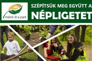 Tavaszi önkéntes parkszépítés a Népligetben