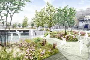 Úszó kert készül Bécsben a hőhullámok ellen
