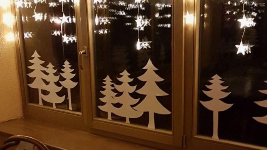 3 perces filléres DIY karácsonyi ablakdísz