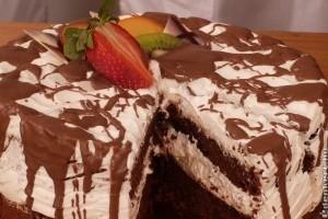 Fekete-fehér torta liszt nélkül