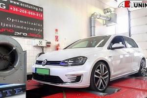 Golf GTE Plug-In Hybrid chiptuning előtt és után