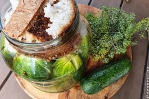 Roppanós kovászos uborka készítése házilag